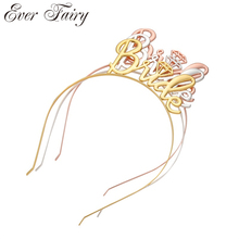 Gold Silver Bride To Be Tiaras Hairbands Crowns Wedding Hair Accessories Jewelry Women Diadema Fashion Crown Tiara Party Gift все цены