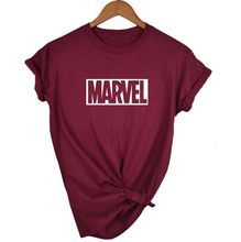 2018 Fashion Harajuku Wanita Kasual Punk Rock Marvel TS Kapas Tumblr Tshirt Kasual Hipster untuk Famale Top(China)