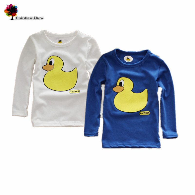 T-Shirt Clothing Spring Autumn Boys Cotton Long-Sleeved Children Cartoon New And Duck