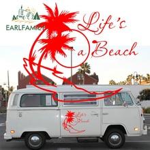 EARLFAMILY 2x LIFE'S A BEACH STICKER VW DUB SURF CAMPER T25 T5 T4 Camper Van Graphics Vinyl Graphics Kit Decals Car Stickers