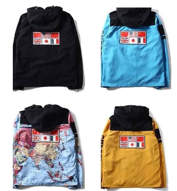 212e3edcb 2015 Supreme Map Jacket Windbreaker Sportswear Flag Face 3M ...