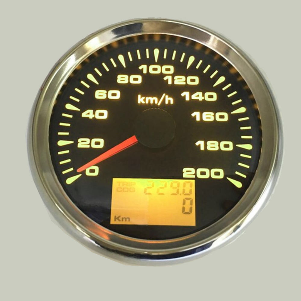 120km/h ,200km/h GPS Speedometer Gauge Boat Car Motor with 7 Color Back light Waterproof Digital Speedometer 9~32V-in Speedometers from Automobiles & Motorcycles    2