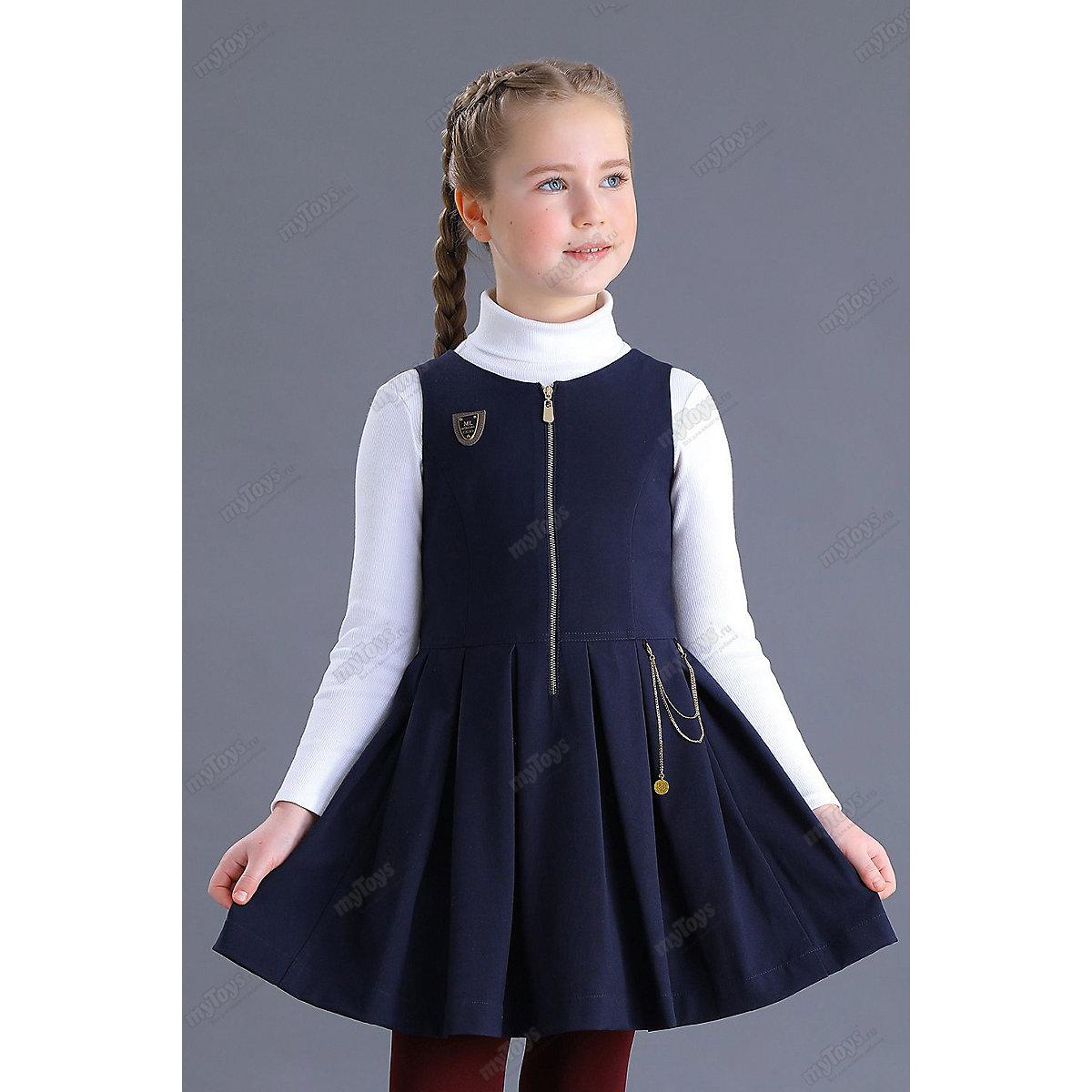 МАЛЕНЬКАЯ ЛЕДИ Dresses 11686286 school uniform dark blue for girls Formal Sleeveless Pleat blue backless design stitching v neck sleeveless sexy dress
