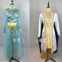 Новое поступление Лампа Аладдина Принц Принцесса Жасмин любителей Косплэй костюм для взрослого человека Для женщин Хэллоуин Детский костю