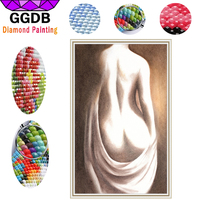 GGDB Full Square Drill 5D Diamond Painting Modern Nude Naked Art Painting Unique Idea Woman Body