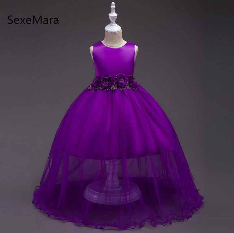 Formal Kids Dress For Girls Princess Wedding Party Dresses Girl Clothes 4-14 Years Dress Bridesmaid Children Clothing