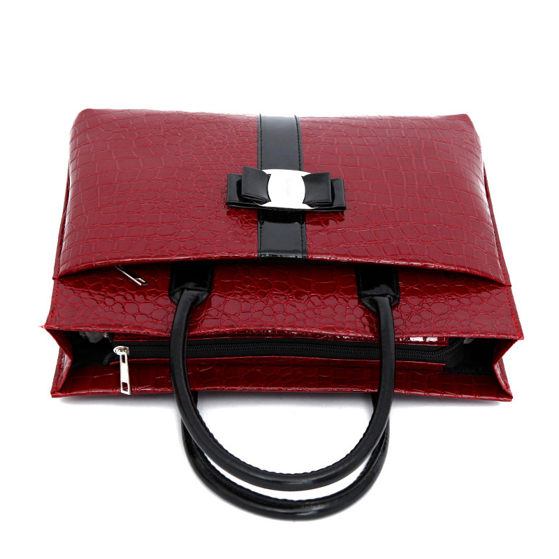 lady pu bolsa de ombro Color : Red /black