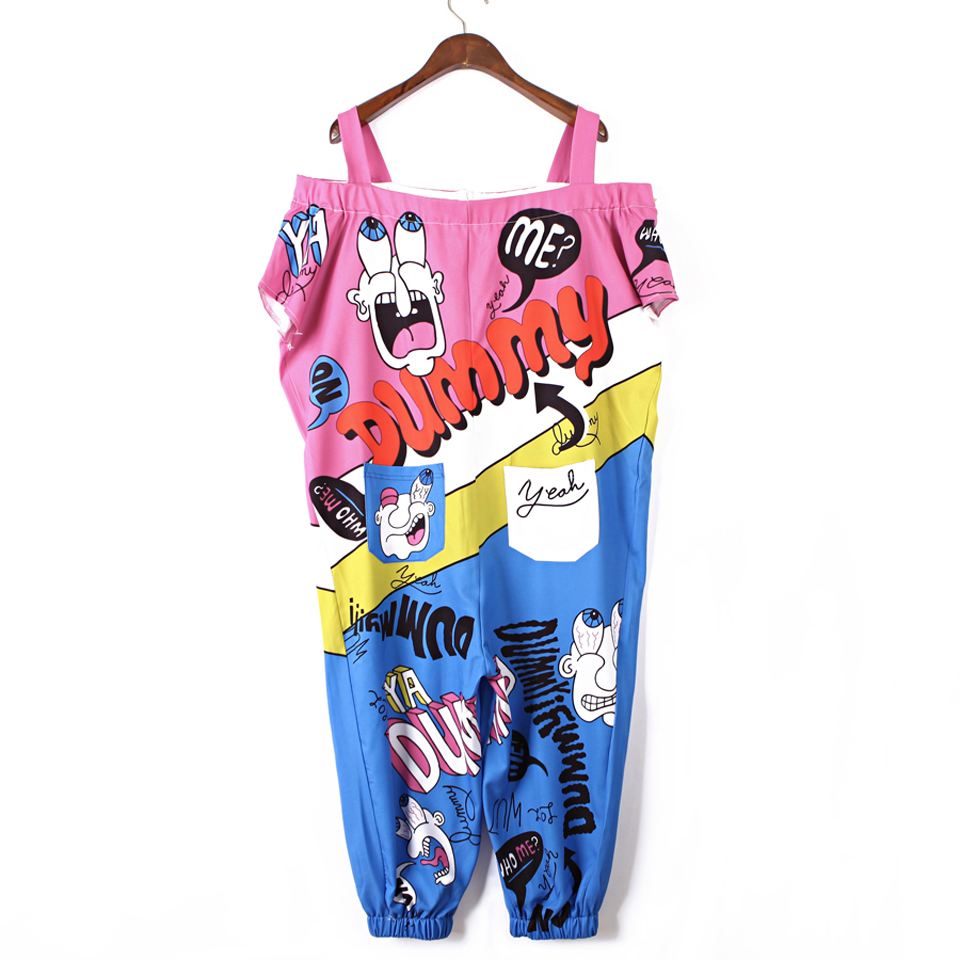 Jumpsuits For Women 2018 Strap Plus Size Personality Pants Women Summer Jumpsuit Streetwear Sling Romper Sexy Bare Shoulder