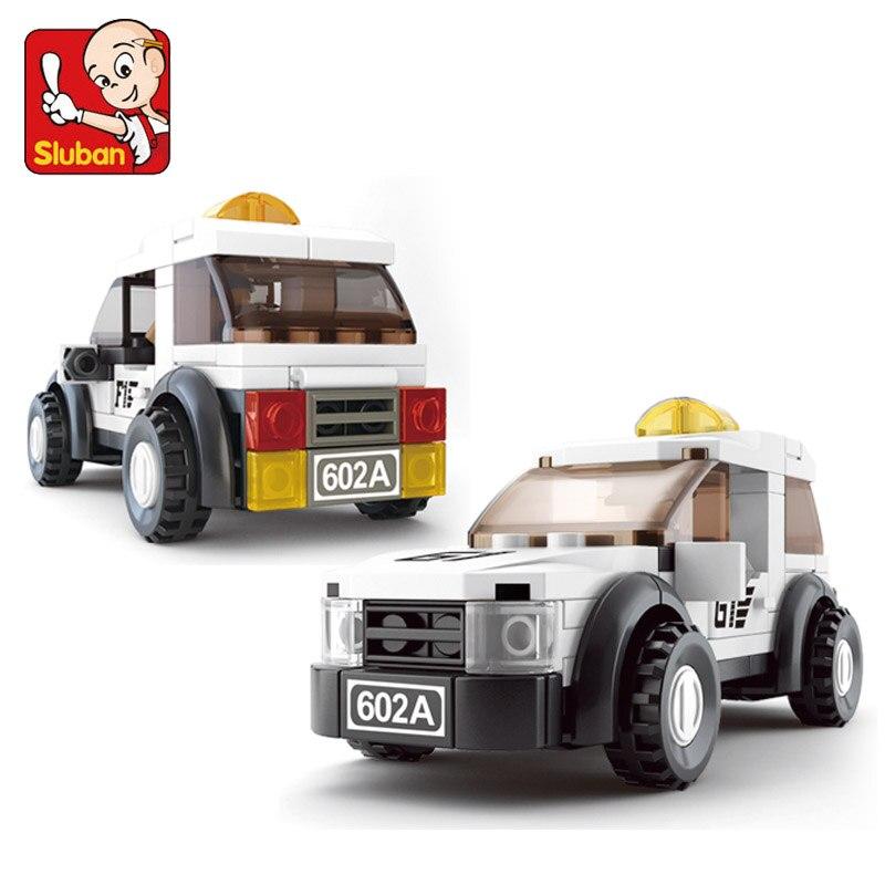 Sluban modelo de construção compatível b0350 96 peças modelo kits de construção clássicos brinquedos hobbies f1 segurança carro simulado