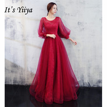 It's YiiYa Evening Dresses 2019 Long Floral Embroid Sequines Women Party Dress Strappy Backless Robe de Soiree Plus Size E509
