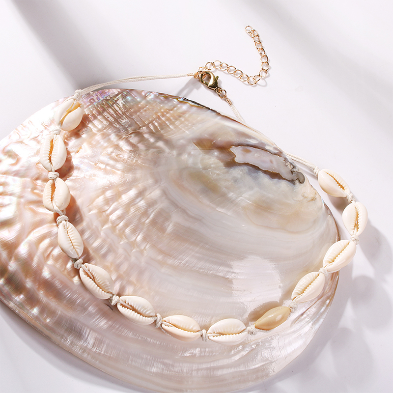 Lalynnlys New Hot Shell Conch Choker Necklace Women Girls Vintage Statement Multi-layer Necklaces Summer Beach Jewelry N68671 23