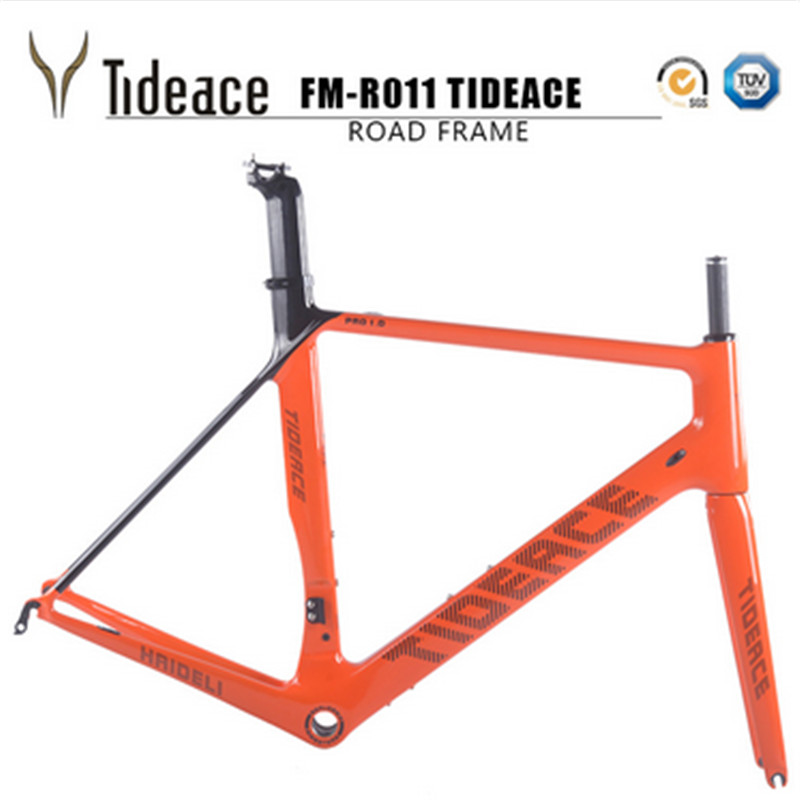 2017 Cheap Carbon Road Bike Frames Racing Bike Frame Bicycles Carbon Road Frame Cycling Frameset With Fork Fast Free Shipping