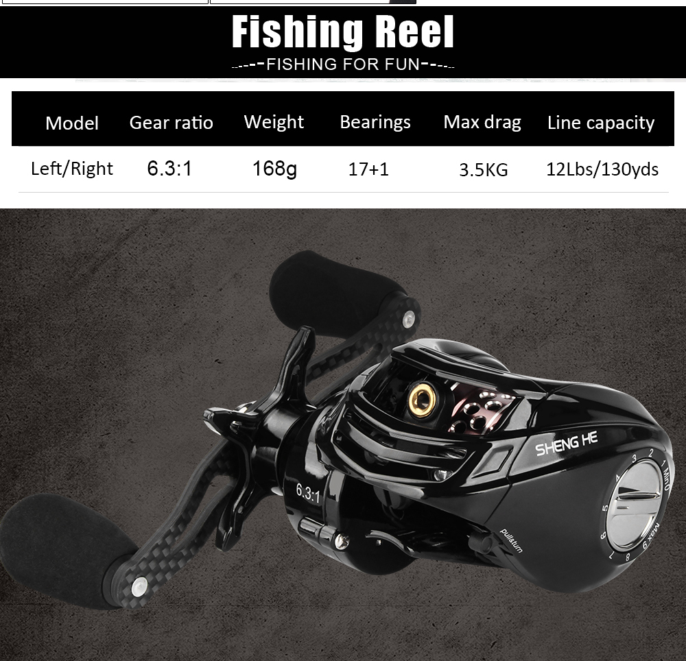 Spinpoler Baitcasting Fishing Combo, Includes Rod & Reel, Lightweight 1.8m Trout Rod, 6.31 Baitcast Reel, Free Canvas Bag  (8)