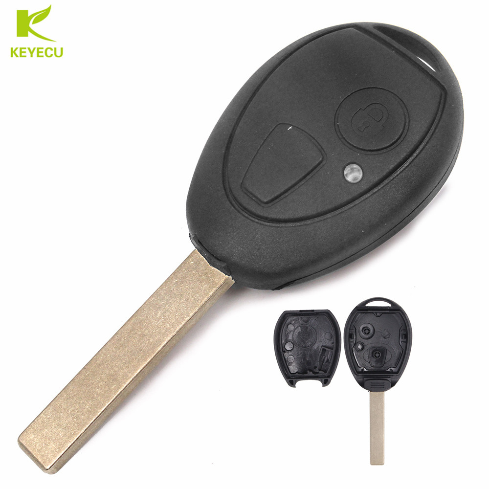 2 Buttons Remote Key Fob Case Shell Cover for Rover 75 Land Rover