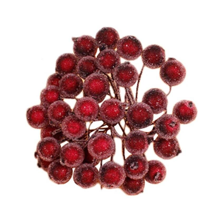 Новый 40 шт./лот мини Поддельные пластик фрукты Искусственные цветы стекло ягоды тычинки Рождество украшения DIY букет цветов вишневого дерева Вечерние