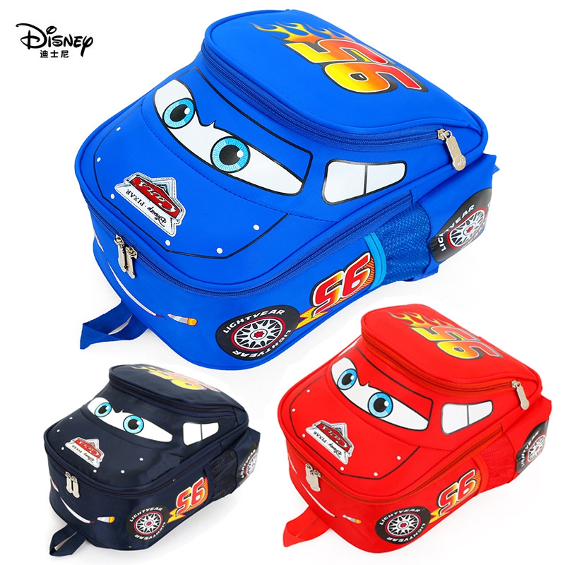 Disney Kindergarten Cartoon Travel   Bag 3D Waterproof 95 Car Boys 2-5 Years Old Children Backpack