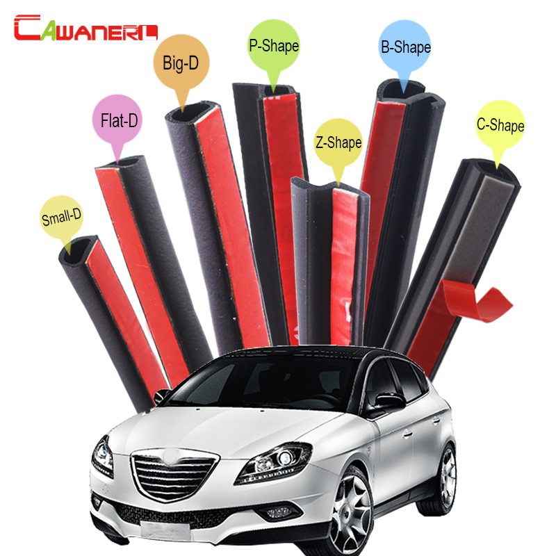 Cawanerl For Lancia Musa Delta Car Trunk Hood 4-Door Rubber Seal Edge Trim Auto Sealing Seal Strip Kit Weatherstrip cawanerl whole car hood trunk door sealing seal strip kit seal edging trim rubber weatherstrip for jaguar c x17 f pace