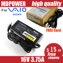 MDPOWER For SONY Laptop computer Energy AC Adapter Charger 16V three.75A Wire