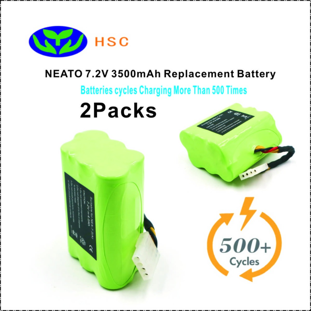 2PCS Neato7 2 3500mAh 7 2V NiMh Battery Replacement Neato XV XV 11 XV 12 XV