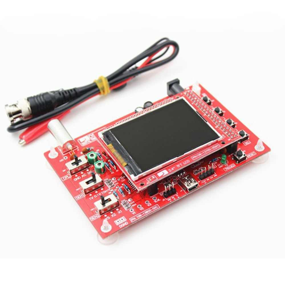 Osciloscopio DSO138 2,4 TFT Kit Digital con piezas DIY + piezas de sonda DIY para osciloscopio de mano Mini oscilógrafo Shell