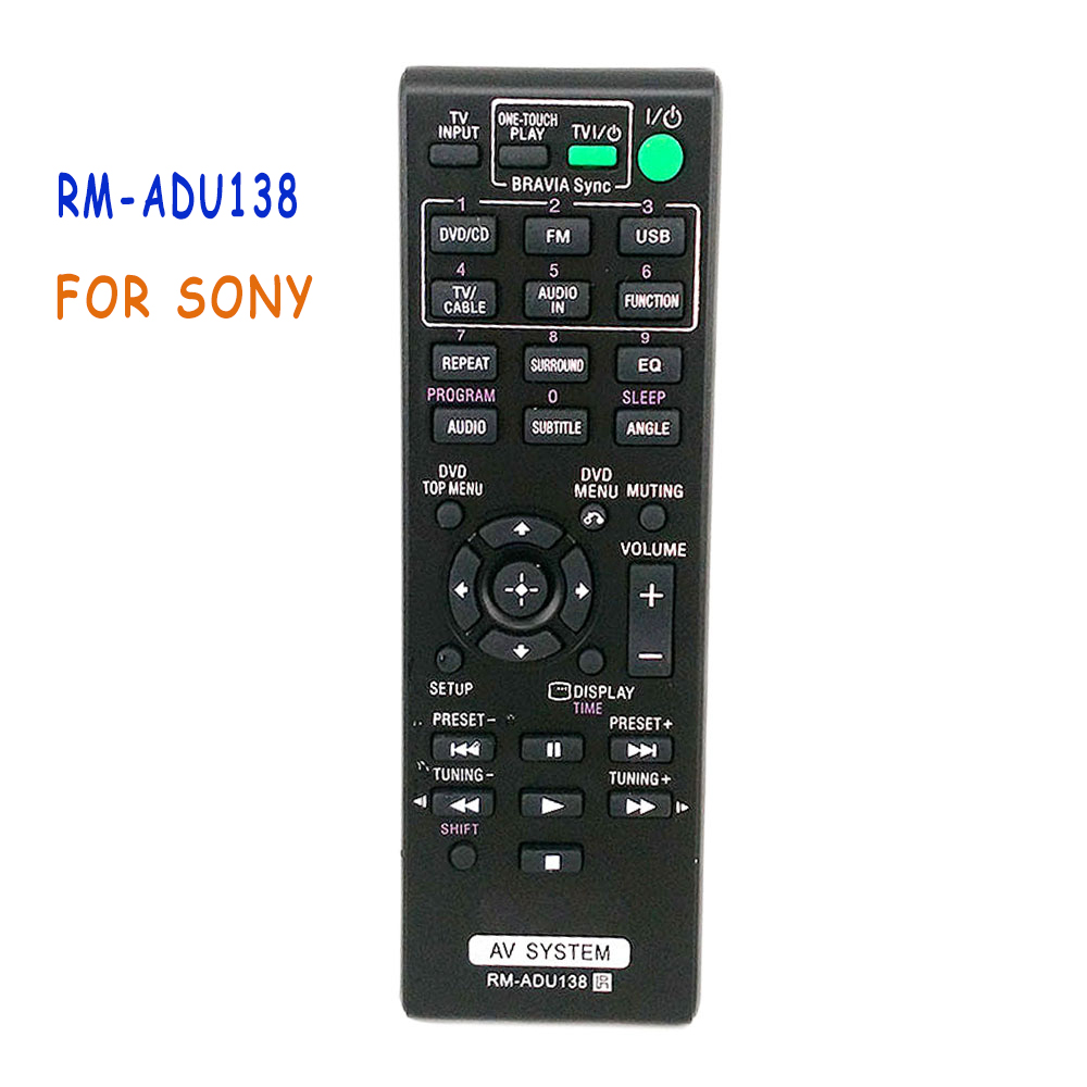 Replacement Remote Control RM-ADU138 For Sony AV SYSTEM AUDIO Home THEATER DAV-TZ140 HBD-TZ140 SS-CT121 SS-TS121 SS-WS121