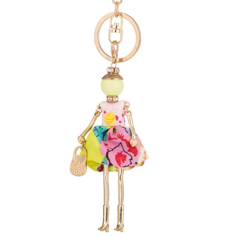 94066809c5d4 Detail Feedback Questions about Sweet spring fashion Doll baby Keychain Car  Key Chain Key Ring Key Holder Charm Pendant For Women Female Girls Bag  Pendants ...