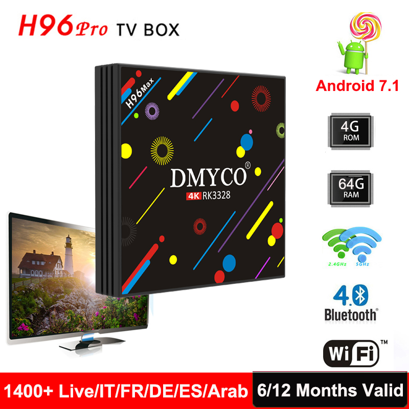 Original H96 Max IPTV Box +1 Year Arabic French Spain UK Europe Italy Best HD 1400+ Channels Android 4K Wifi 4G/64G Smart TV Box original box uk gec 807 vt60 sound super single price