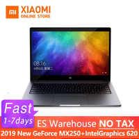 2019 Xiao mi mi Air Laptop 13.3 Cal ultra cienki i5 8250U/i7 8550U GeForce MX250 rozpoznawanie linii papilarnych Windows 10 angielski