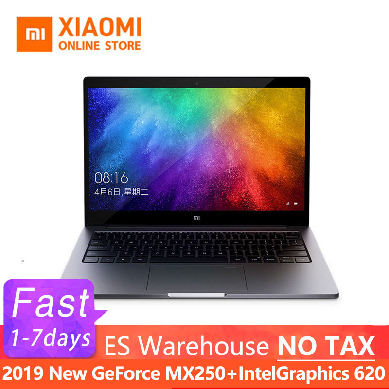 2019 Xiaomi Mi Air Laptop 13.3 Inch Ultra Slim I5 8250U / I7 8550U GeForce MX250 Fingerprint Recognition Windows 10 English