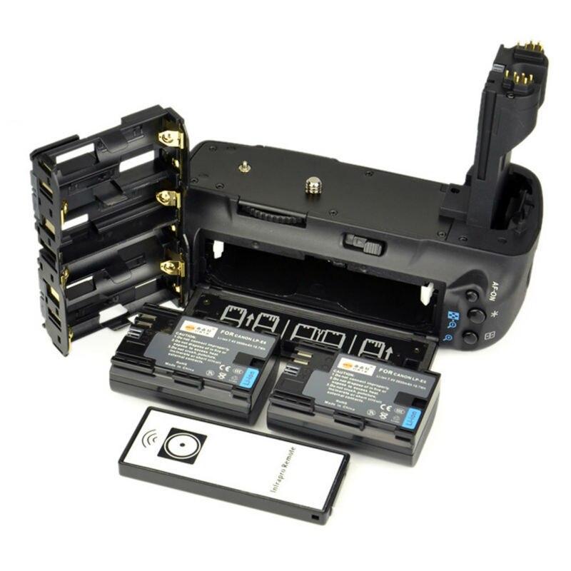 bilder für DSTE Multi-Power Vertikale Batteriegriff + Fernbedienung + 2 x LP-E6 lp-e6 Akku für Canon 5D Mark II Digitale Slr-kamera