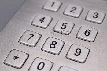 Mechanical Rugged Industrial Keyboard with 12 Keys IP65 3x4 Kiosk Metal