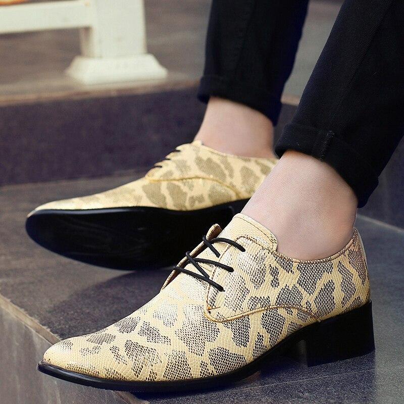 Chaussures Oxford Marque Black D'affaires Vogue Annonce De Mens 66 En silver 28 Luxe Serpent Imprimé Peau Cuir Robe gold Nouvelle Taille Formelles Hommes 8Z8qxEwR