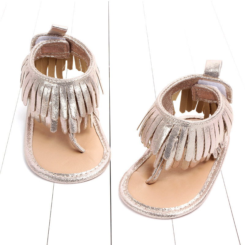 Baby comfortable sandals 2018 summer new boy girls beach shoes kids casual sandals children fashion Baby Girl Tassel Sandals (2)