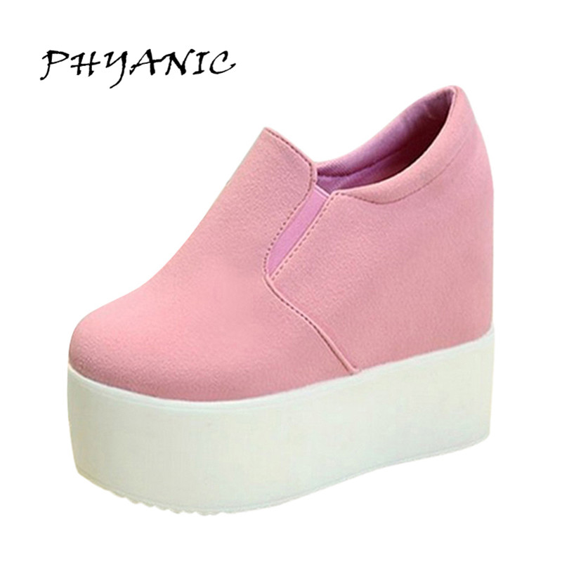 PHYANIC New 2017 Women Boots Solid Soft High Heels Platform Wedge Autumn Shoes Woman Ankle Fashion Riding Boots XDY8014 phyanic platform gladiator sandals 2017 new casual wedge shoes woman summer women ankle boots side zipper party shoes phy5036