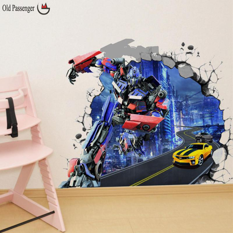 Aliexpress.com : Buy Old Passenger _ Childrenu0027s Room Decoration Fresco  Transformers Optimus 3d Stereo Bedroom Kindergarten Classroom From Reliable  ...