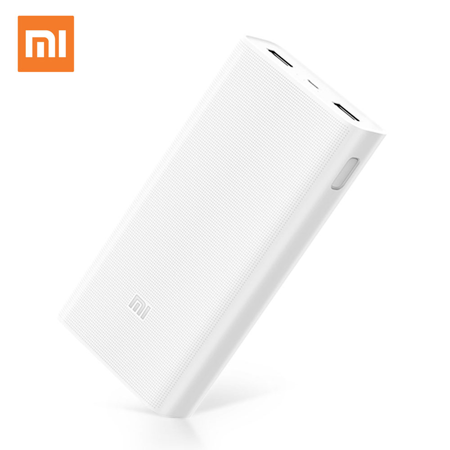 Original Xiaomi Mi Power Bank 20000mAh 2C Fast Charging QC3.0 Portable Charger External Battery Power Bank For Mobile Phone xiaomi original new 5000mah 2 alloy metal ultra thin power bank for mobile phone