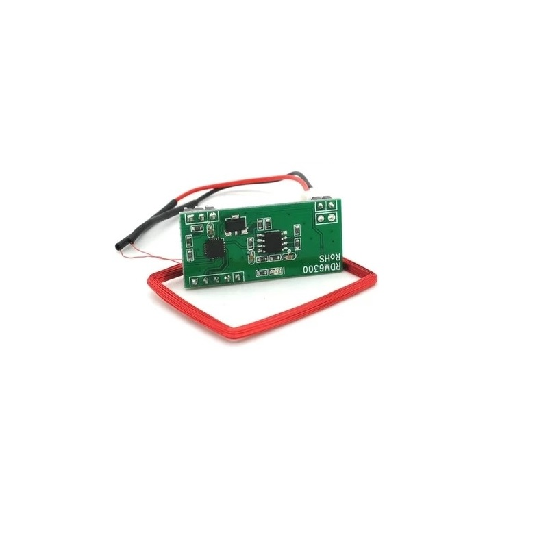 цены 10PCS/lot RDM6300 RFID 125Khz Reader Module UART Output for arduino with 10piece keyfob