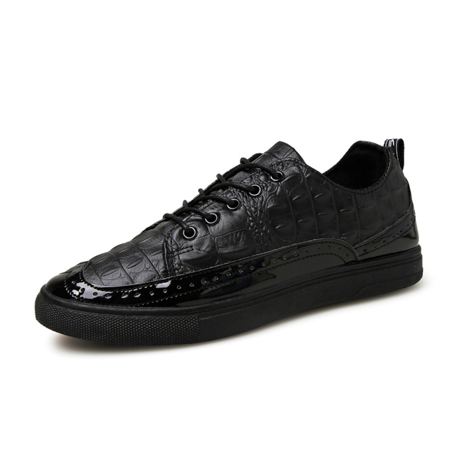 JARLIF 2017 New Men Spring Cowhide Casual Shoes Genuine Leather Lace Up Sport Walk Shoe Italian Oxford Splicing Urban Male Shoe