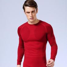 New O-neck Full Sleeve Solid Mens soccer Jerseys running tights Breathable football fitness tights training sport jerseys