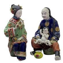 Marvel Couple Sculptures Painted Porcelain Figures Decorative Ceramic Figurines Statue Classic Art Craft Collectible Crafts
