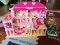 Розовая Принцесса Замок Строительные Блоки Головоломки Собраны Игрушки Девушке Подарок Раннего Образования Diy Строительные Блоки Модель Строительство Комплекты