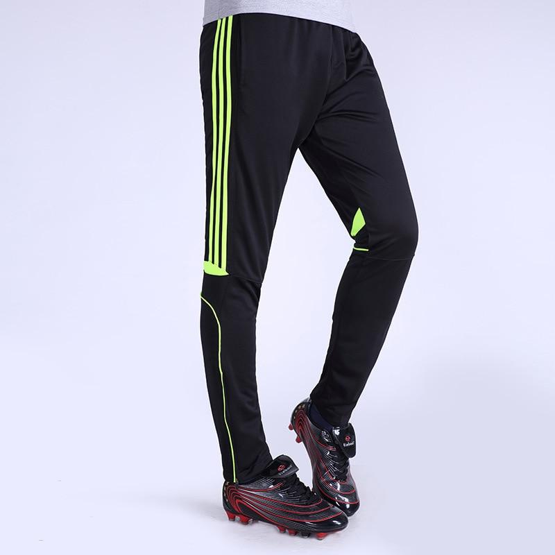 футбол тренировочные брюки тощие длинные мальчики спортивный костюм бег футбол вратарь брюки мужские спортивные брюки штаны 2017