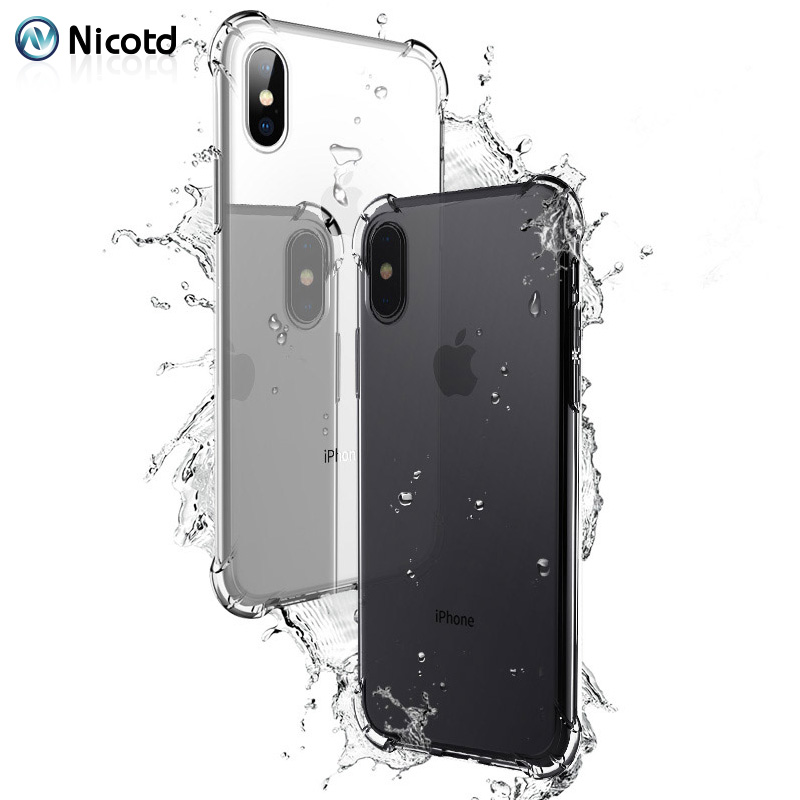 Nicotd TPU Case For iPhone XS Max Soft Case Clear Thin Cases For iPhone XS MAX XR X 7 PLUS 8 6S Case Crystal Silicone Cover bags (9)