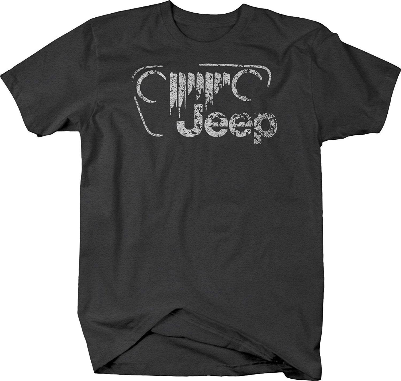 2bd06605 2019 Summer Cool Men Tee Shirt Jeep Vintage Off Road Grill Logo JK TJ CJ T