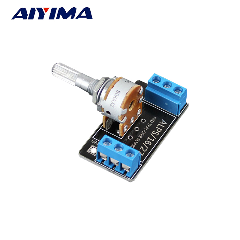 Aiyima 1PC A 50K ALPS Potentiometer Double 6-Pin Volume Potentiometer PCB Board spanish two tone double potentiometer 10k 50k