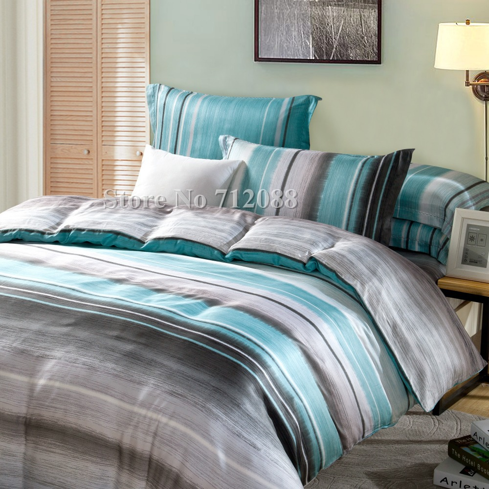 blue and gray striped bedding new bedding sets simple color lake  - free tencel pc bedding sets blue gray modern