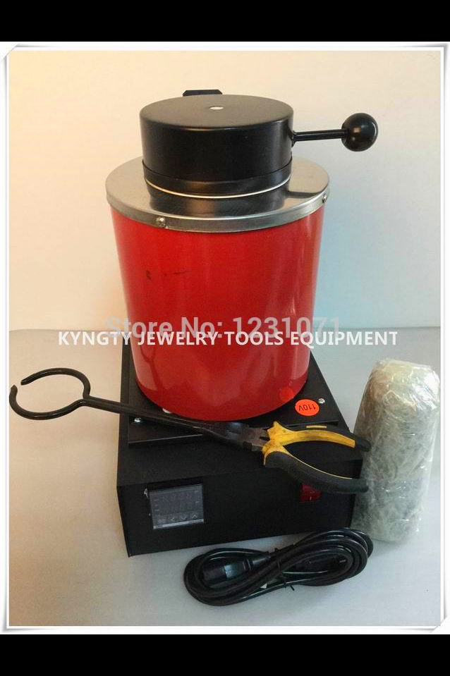 купить Jewelery Tools 2016 2kg Gold Electric Melting Furnace with extra 1 kg Graphite Crucible and Plier 220V онлайн