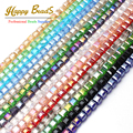 High qualtiy 6mm AAA Square Shape Austrian Crystal Beads 50pcs Plated AB Glass Beads For Jewelry Making bracelet Free Shipping