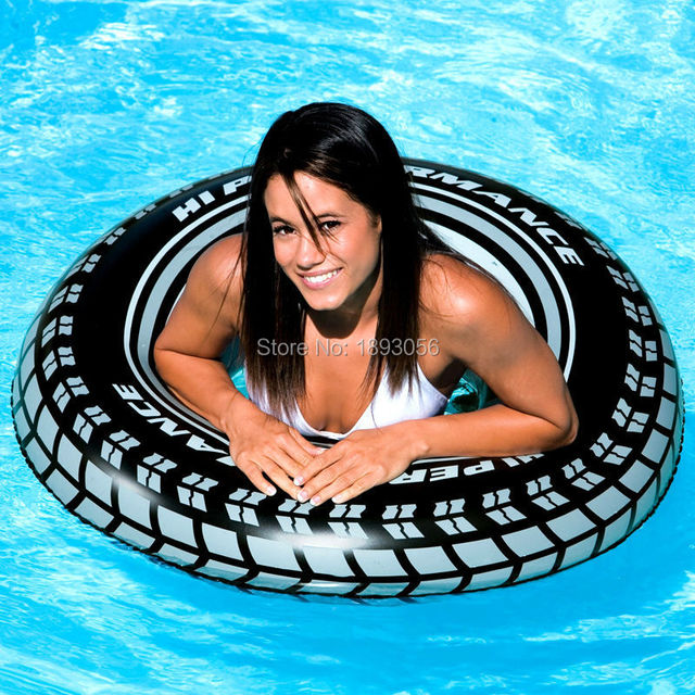 Hot Sale 91cm Black Tire Swimming Tubes Inflatable PVC Swim Circle Adult/Above  9 ages Kid Water Sport Summer Fun Life Buoy Float