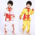 Populares Meninos Conjuntos de Roupas de Estilo Chinês Tradicional Kung fu Desempenho Crianças Dança Estágio Roupas de Artes Marciais Terno